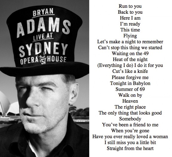 Bare Bones Tour Bryan Adams