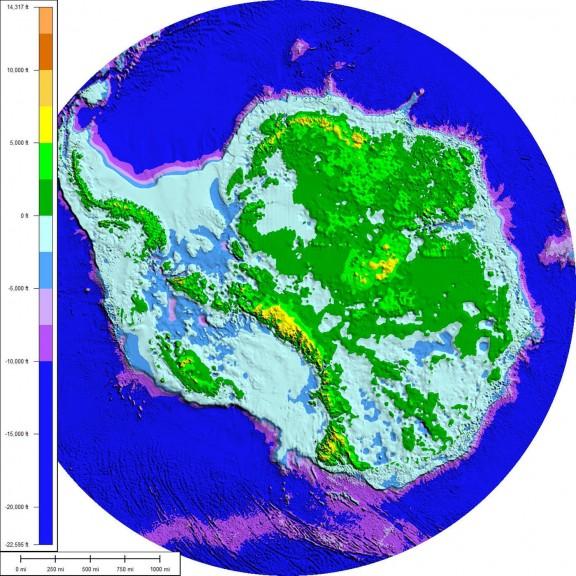 Base de roca de la Antártida