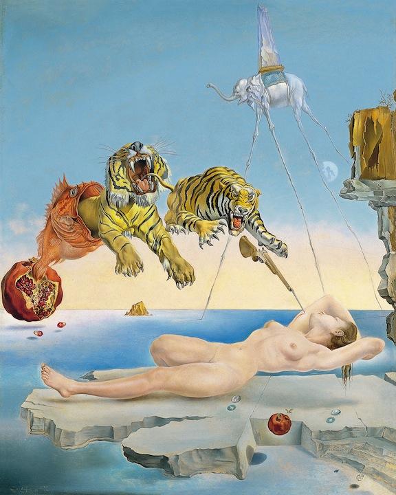 Sueño causado por el vuelo de una abeja… - Dalí