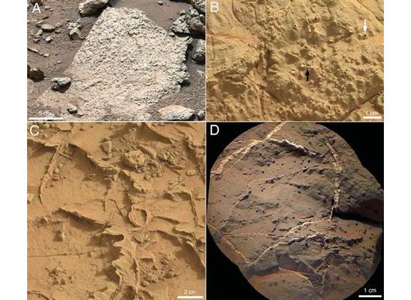 Marte - rocas del cráter Gale