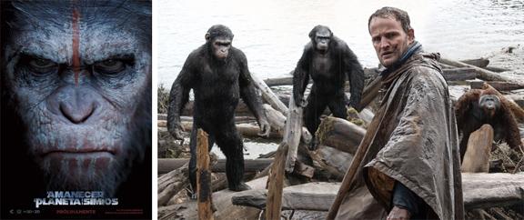El amanecer del planeta de los simios (2014) mixta