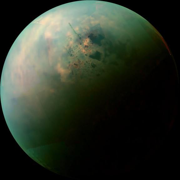 Titán - foto Cassini