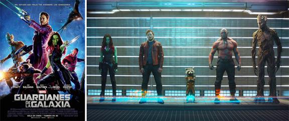 Los Guardianes de la Galaxia (2014) mixta